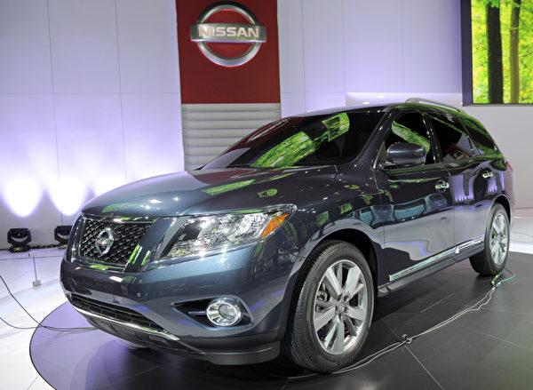 底特律車展1月10日開跑,將凸顯復甦的美國車市,以及 General Motors (通用)、Ford Motor (福特) 和 Chrysler (克萊斯勒) 三大美國車廠的命運轉折。圖為Nissan Pathfinder SUV 概念車。(STAN HONDA / AFP ImageForum)