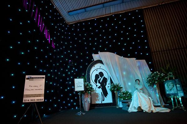 2012年冬季婚庆展览的入口处(摄影:艾文/大纪元)