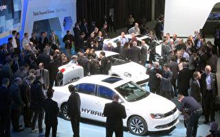 2012年底特律北美国际汽车展现场(摄影:陈雷/大纪元)