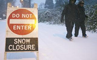 西雅圖暴風雪襲擊 學校停課 航班取消