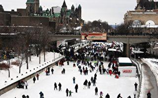 暖冬天氣 加首都冰雪節遊客熱情不減