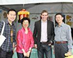 駐澳大利亞代表處代表張小月女士(左二)、首都特區議員Coe Alistair先生(右二)、文化組遲耀宗組長(左一)及駐處張裕常組長(右一)。(駐澳大利亞代表處提供)