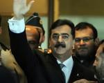 2012年2月13日,巴基斯坦总理季兰尼(Yousuf Raza Gilani)恐因藐视最高法院面临起诉,总理职位将不保。(AAMIR QURESHI/AFP/Getty Images)
