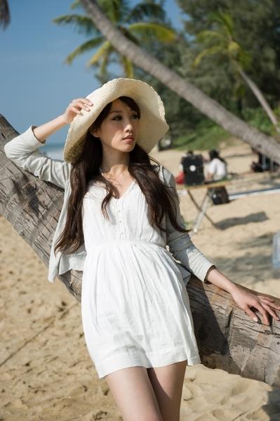 楊晴瑄出演《嘻哈四重奏》第四季,前往風光明媚的海南島拍攝。(圖/STARFISH提供)