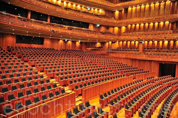 兵库县立艺术文化中心的KOBELCO大音乐厅(摄影:曹景哲/大纪元)