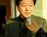 """儿童财团""""绿色雨伞""""忠清南道地区本部牙山赞助会长李在日。(摄影: 金国焕] / 大纪元)"""