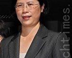 台湾法轮功人权律师团发言人朱婉琪(大纪元)