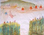 中国传统画家章翠英作品-大法开传(图片来源:作者提供)