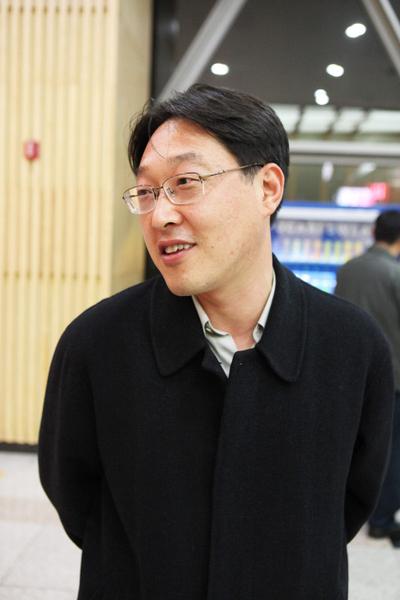 三星SDS责任顾问李廷荚(摄影:金珍泰/大纪元)