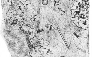 皮瑞‧雷斯绘制的地图(原件)。(图:商周出版 提供)