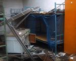 被搗毀的員工宿舍。(知情人提供)