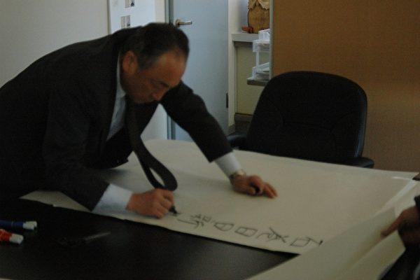 手寫發行牆報(攝影:石卷日日報社提供)