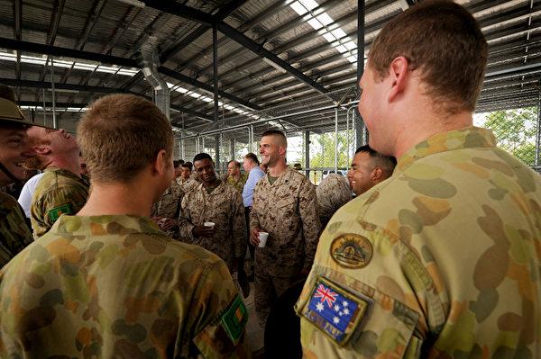 第一批美国海军陆战队4月4日已经抵达澳大利亚北部,标志着美军在亚太地区扩大部署的开始。(AFP)