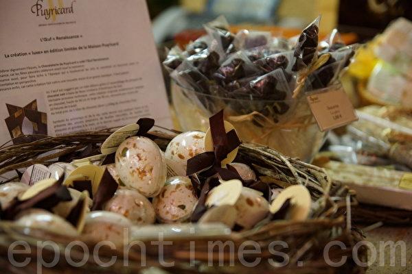 精致美味的复活巧克力蛋(摄影:李归燕/大纪元)