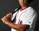 林哲瑄在红袜对光芒第9局下半登场,成为第8位升上大联盟的台湾选手。但赛后又回3A。(Photo by Elsa/Getty Images)