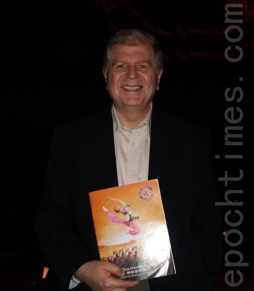 资深副总裁Osvaldo Ridner先生表示神韵晚会对他而言是中国文化的启蒙。(摄影:苏月/大纪元)