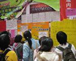 2007年 學生在看孫文廣的選舉海報(孫文廣提供)
