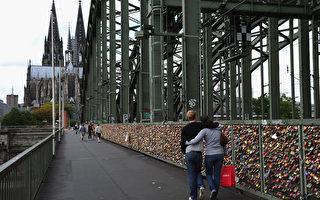 萊茵鐵橋情鎖見證永恆愛情