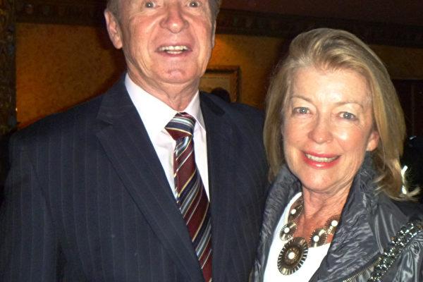 澳洲矿业大亨、矿业协会执行主席George Edwards和太太(摄影:史迪/大纪元)