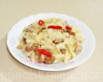 桂竹笋炒肉丝非常下饭好吃(摄影:林秀霞 / 大纪元)