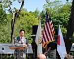 去年日本311大地震﹐驻波士顿领事馆收到新英格兰地区无尽的支持和捐助。总领事引原毅(Takeshi Hikihara)向美国人民表示深深的感谢。(摄影﹕唐月/大纪元)