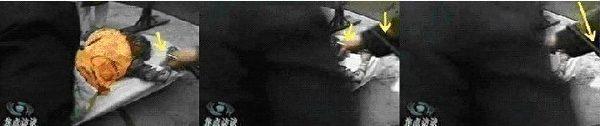 图19 警察拿着话筒给刘思影现场录音