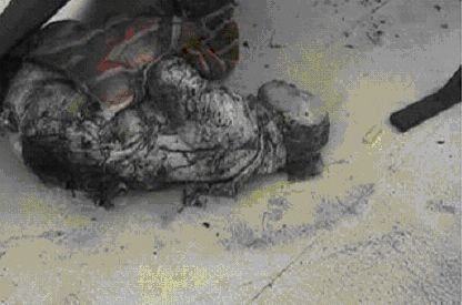 图24《焦点访谈》中刘春玲的尸体照片