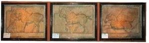 圖:昭陵北麓祭壇西側的三匹駿馬。(維基百科公共領域)