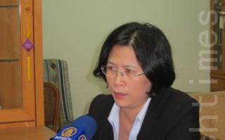 台湾法轮功律师团发言人朱婉琪。(摄影:钟元  / 大纪元)