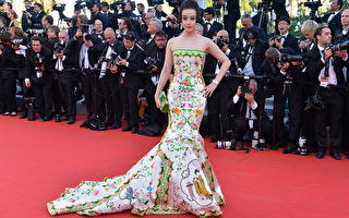 """在第65届戛纳电影节开幕式上,范冰冰身着""""china瓷""""式礼服一出现在毯。(图/ Getty images)"""