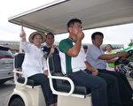 日后游鳌鼓湿地为维护空气清净品质所使用的电动环保车。  (摄影:苏泰安/大纪元)