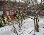 三周年祭日傍晚,白雪皑皑的紫阳书房,王雁南。(俞梅荪提供)