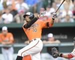 第12局下,金莺琼斯轰出2分再见全垒打。(Photo by Mitchell Layton/Getty Images)