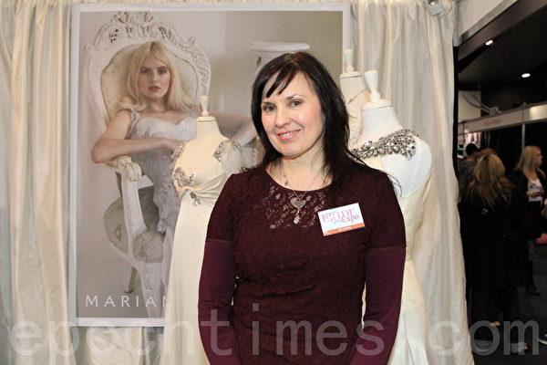 墨尔本婚礼展览会主任、新娘杂志编辑Kirstie Armiger-Grant女士。(摄影:陈明/大纪元)