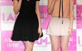 少女时代成员Tiffany、泰妍。(摄影:全宇/大纪元)