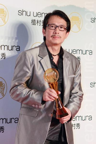 何國杰靠《賽德克‧巴萊》專輯獲得演奏類最佳專輯製作人獎。(攝影:許基東/大紀元)