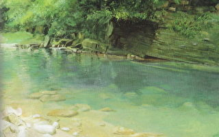 《春水遐思》,100x80cm,2007,油画,麻布(图片:作者提供)