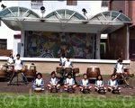雙溪國小的鼓陣,在全縣或全國的比賽屢獲佳績,經常受邀在各種活動中表演。(嘉義縣議員黃嫈珺提供)