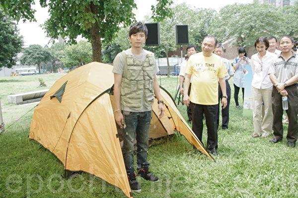 黃鴻升因主演電影《陣頭》而受到矚目。(攝影:黃宗茂/大紀元)