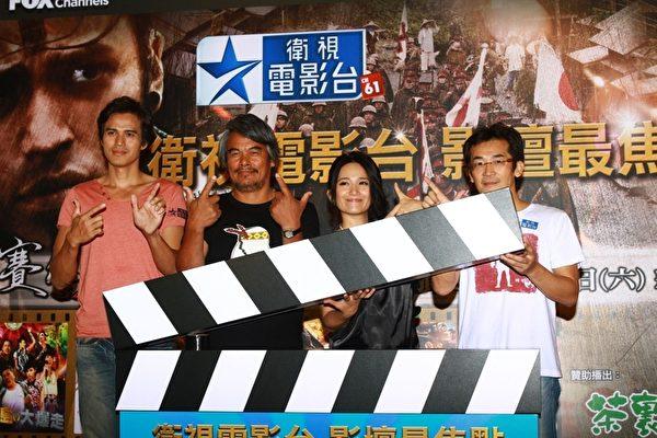 导演魏德圣与演员林庆台、大庆、罗美玲出席电影台的启播记者会。(图/卫视提供)