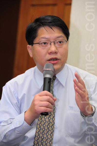 台灣人權促進會會長、「兩岸協議」監督聯盟召集人賴中強。(攝影:宋碧龍/ 大紀元)