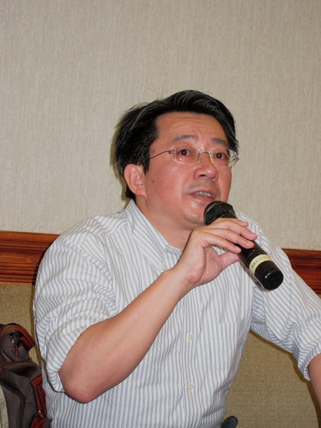 中央研究院法律學研究所副研究員廖福特。 (攝影:鍾元 / 大紀元)