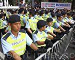 """胡锦涛香港之行的安保措施可以用""""铜墙铁壁""""来形容。(摄影:潘在殊/大纪元)"""