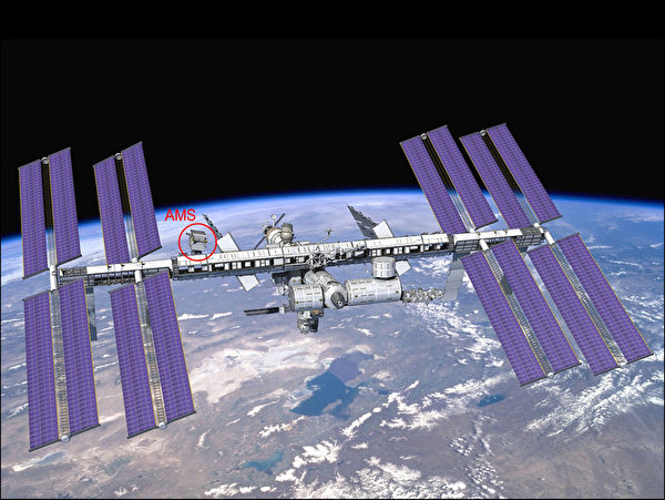 由中央研究院院士丁肇中主持的太空磁谱仪(AMS)计划,有16国科学家合作,台湾也参与核心任务。图为 AMS未来放上国际太空站的位置图。(丁肇中提供)