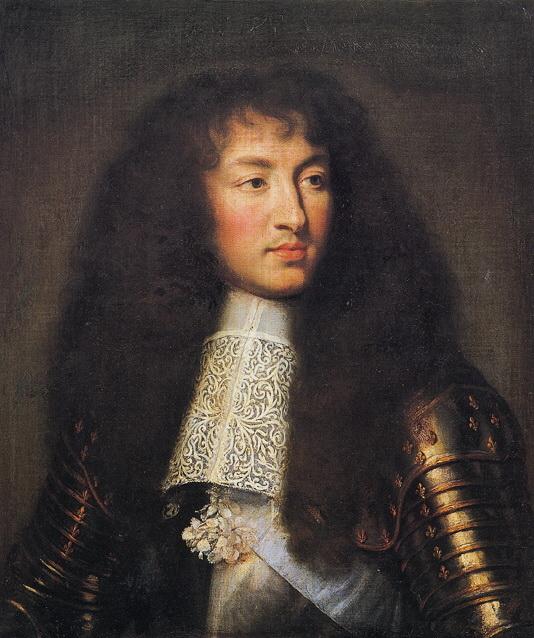 勒布杭为年轻的太阳王路易十四绘制的肖像。