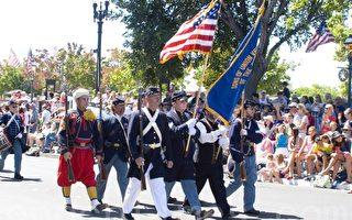 7月4日,旧金山红木城(Redwood City)举行独立日游行。(摄影:周容/大纪元)