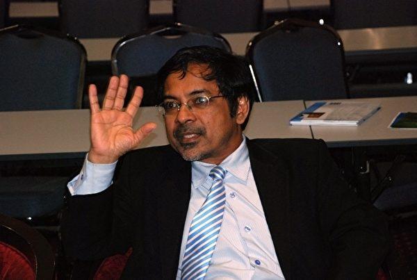 7月10日,在馬來西亞吉隆坡舉辦的「器官販運和交易的真相與風險」講座記者會。亞莫醫生。(攝影: 張建浩/大紀元)