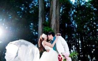 神木下婚礼宣传照。(阿管处提供)