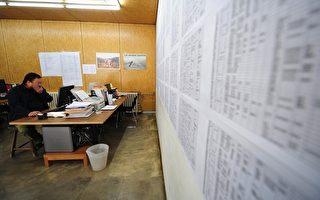 中国著名维权艺术家艾未未坐在四川大地震死难学生的名单前。(Christian Science Monitor/Getty Images)