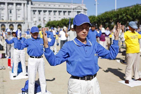 720旧金山法轮功学员反迫害集会大游行(摄影:大纪元/李明)